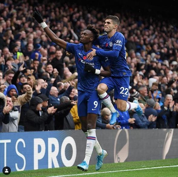 Hasil Liga Inggris 2019 : Gol Abraham dan Pulisic Menangkan Chelsea Atas Crystal Palace