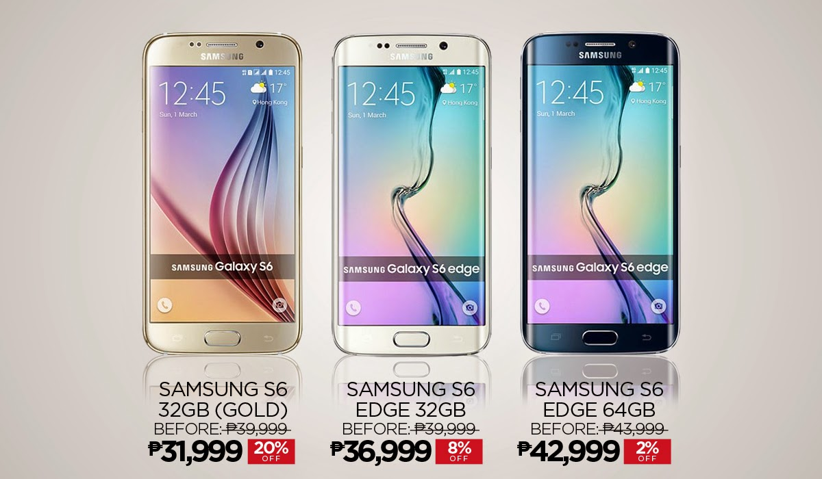 Samsung Galaxy S6 and S6 Edge in Lazada Philippines