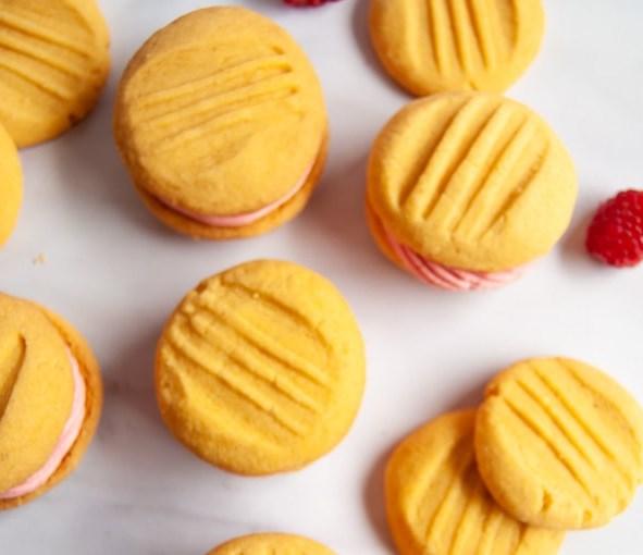 VANILLA CUSTARD BISCUITS #desserts #simplerecipe