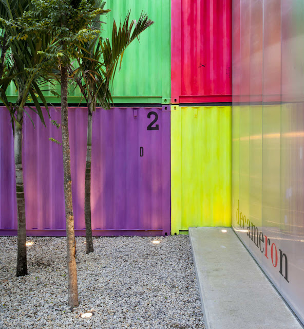 Decameron - Low Budget Colorful Shipping Container Store, Brazil 7