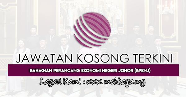 Jawatan Kosong Terkini 2021 di Bahagian Perancang Ekonomi Negeri Johor (BPENJ)