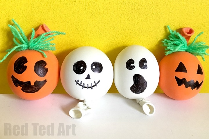 DIY halloween stress balls made from balloons