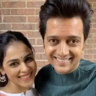 riteish deshmukh with wife