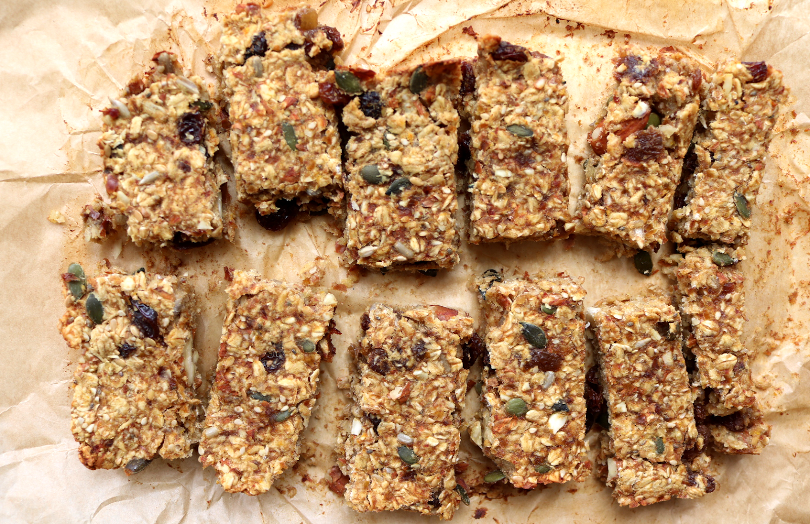 Rustic Fruit & Nut Flapjacks (Dairy-Free / Vegan recipe)