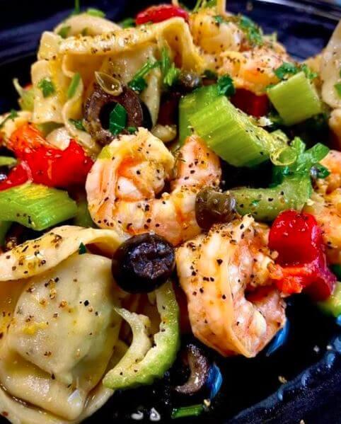 Italian shrimp tortellini pasta salad REcipe