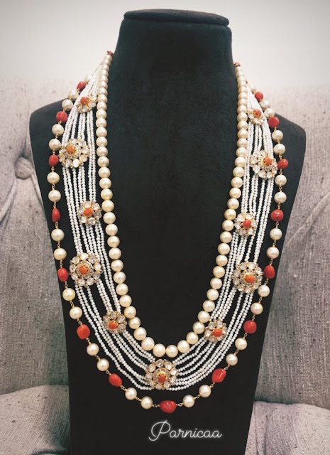 Pearls Necklace Sets by Parnicaa