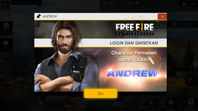 Andrew Free Fire - Battlegrounds