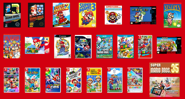 Super Mario Bros. 35th anniversary every game you can play on Nintendo Switch