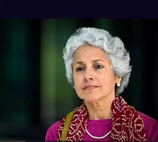 The Indian lady in this picture is the chief scientist of a global organisation fighting the COVID – 19 pandemic. What is her name?