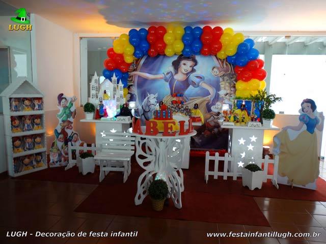 Decoração de aniversário Branca de Neve - Festa infantil Recreio-RJ