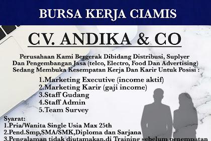 Lowongan Kerja Cv.Andika & CO
