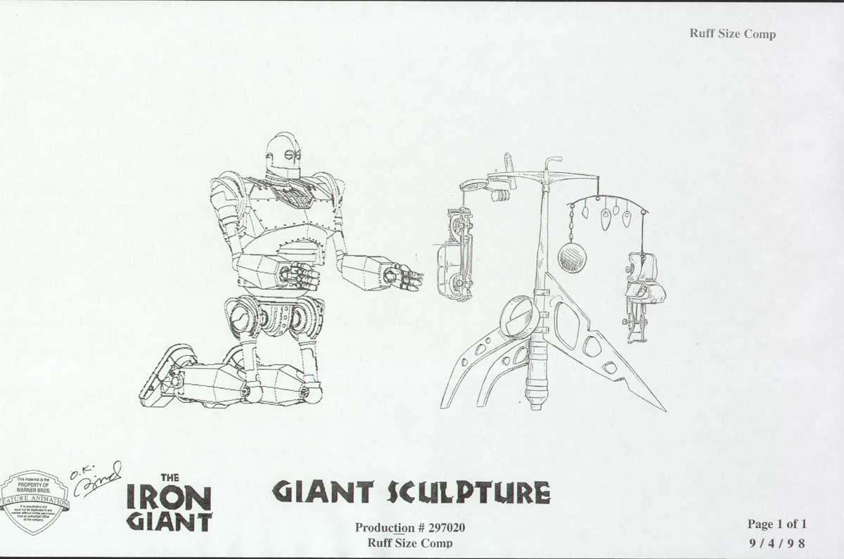 Cartoon Concept Design Iron Giant Character Design