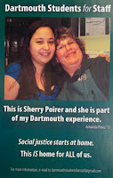 """Dartmouth Students for Staff """"This is __"""" campaign poster"""