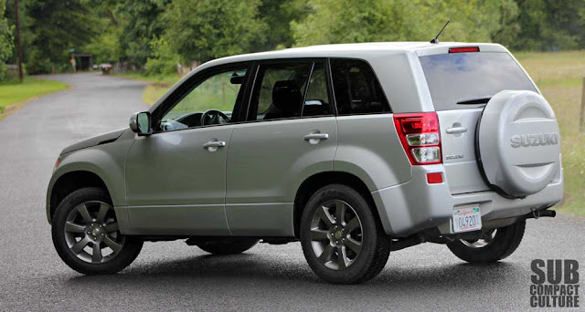 2012 Suzuki Grand Vitara Ultimate Adventure rear shot