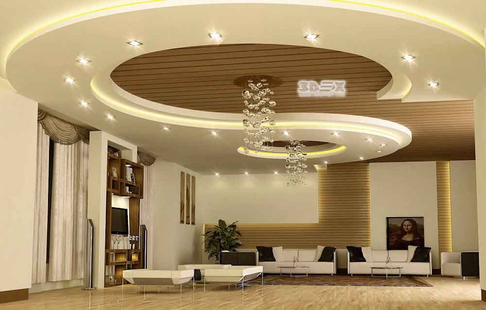 Latest 50 pop false ceiling designs for living room hall 2019 - Latest ceiling design for living room ...