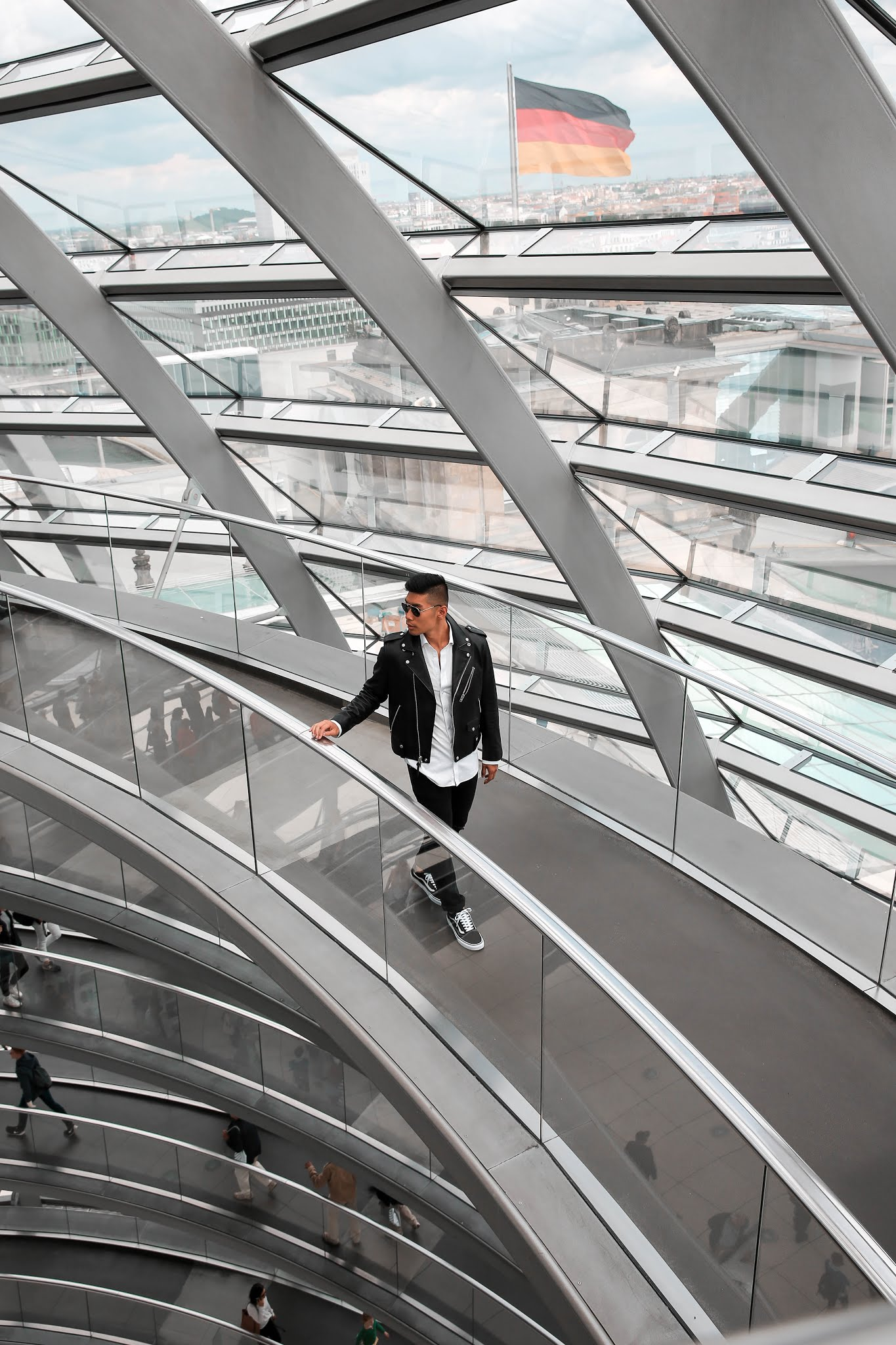 Leo Chan at The Reichstag Building Dome