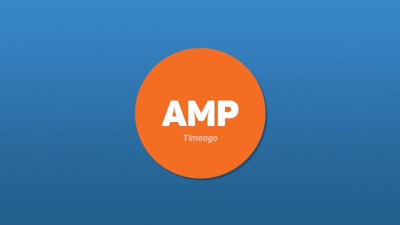 AMP Timeago Eklentisi