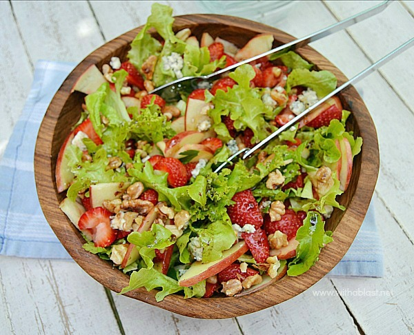 Strawberry Apple and Blue Cheese Salad