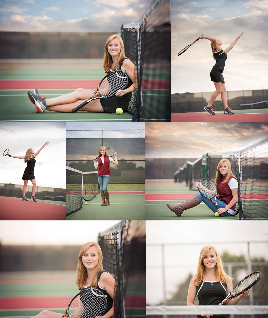 Amazing Senior Tennis Portraits Outdoor near DeKalb, Sycamore IL