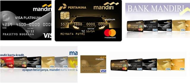 Gambar design kartu kredit bank mandiri