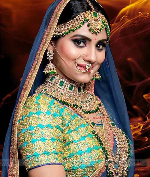Odia Hot Actress Shradha Panigrahi in Saree HD Wallpaper Download
