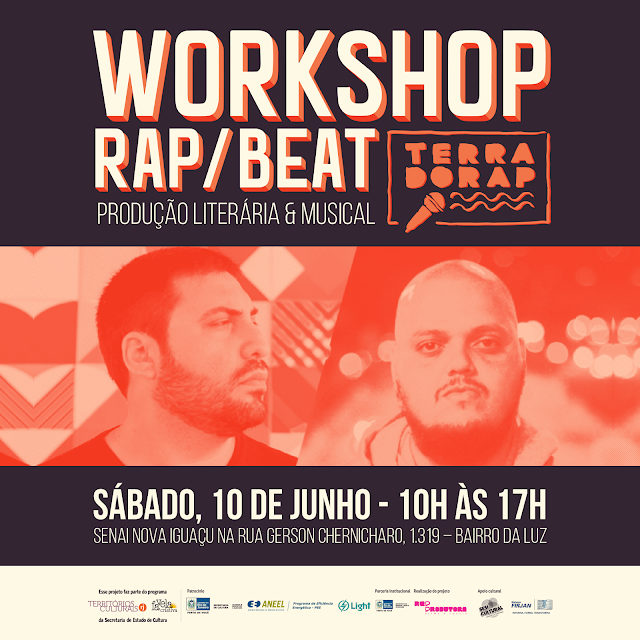 Workshop GRATUITO de Rap e Beat/ TERRA DO RAP LUSOFONIA DIA 10/06