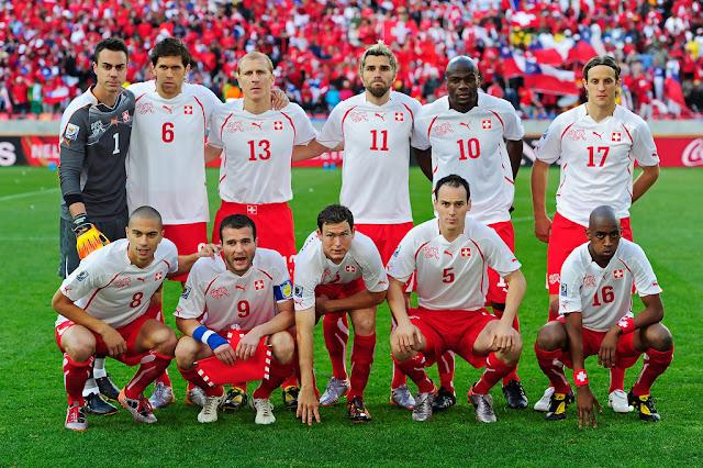 Formación de Suiza ante Chile, Copa del Mundo Sudáfrica 2010, 21 de junio