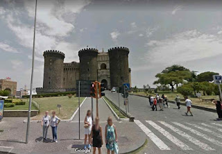 Castel Nuovo (Maschio Angioino) is a medieval castle in front of Piazza Municipio and the city hall of Naples