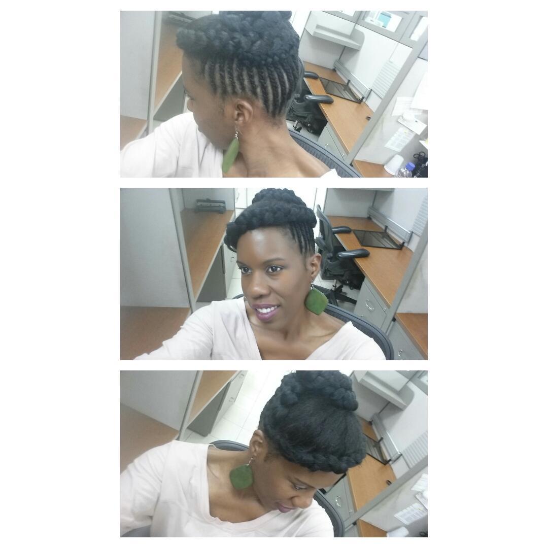 Peinados de oficina para pelo afro