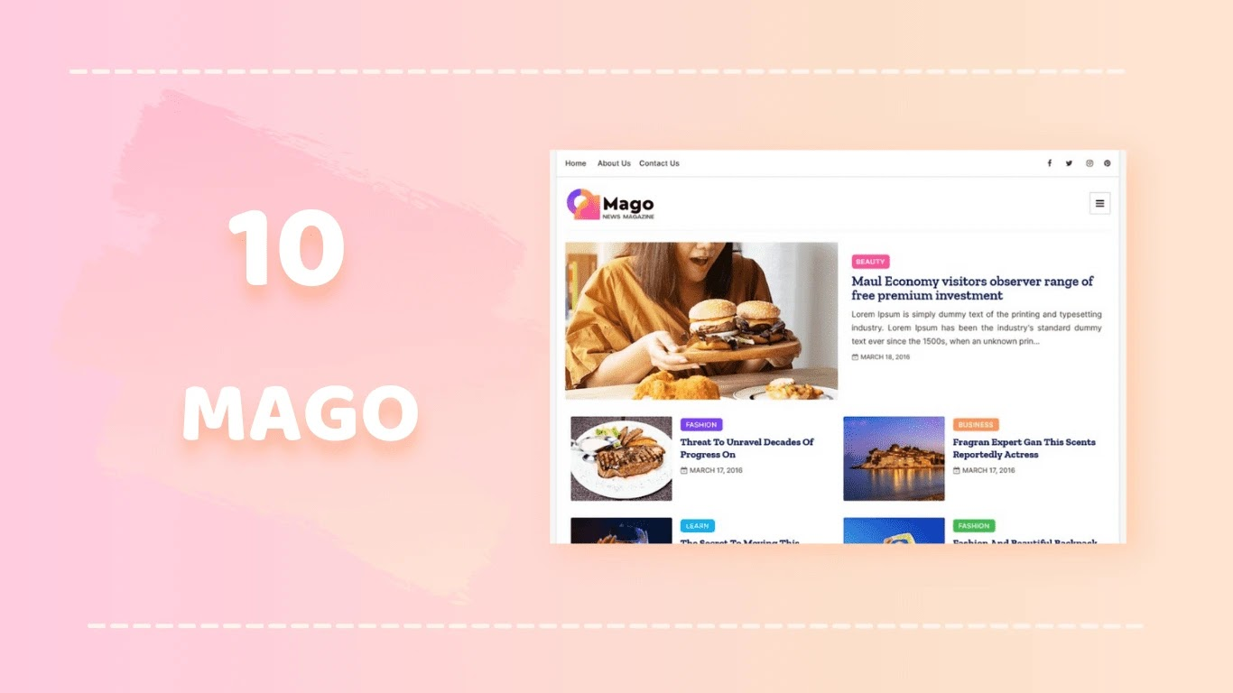 Mago blogger template download