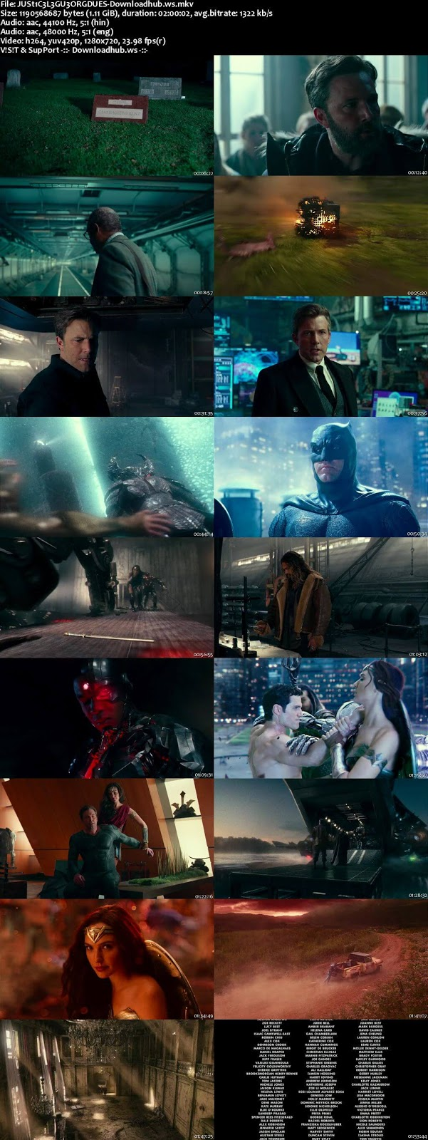 Justice League 2017 Hindi Dual Audio 720p BluRay Free Download