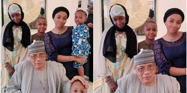 How wife of Babangida's son edited second wife's children out of photo with ex-President