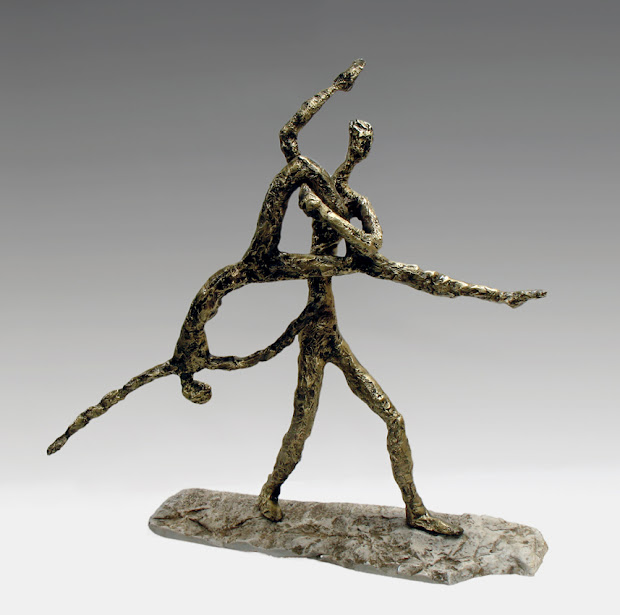 """dancers"" Multi-position Bronze Sculpture Nanouris"