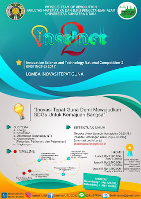 Innovation Science And Technology National Competition 2 (INSTINCT) 2017 by USU