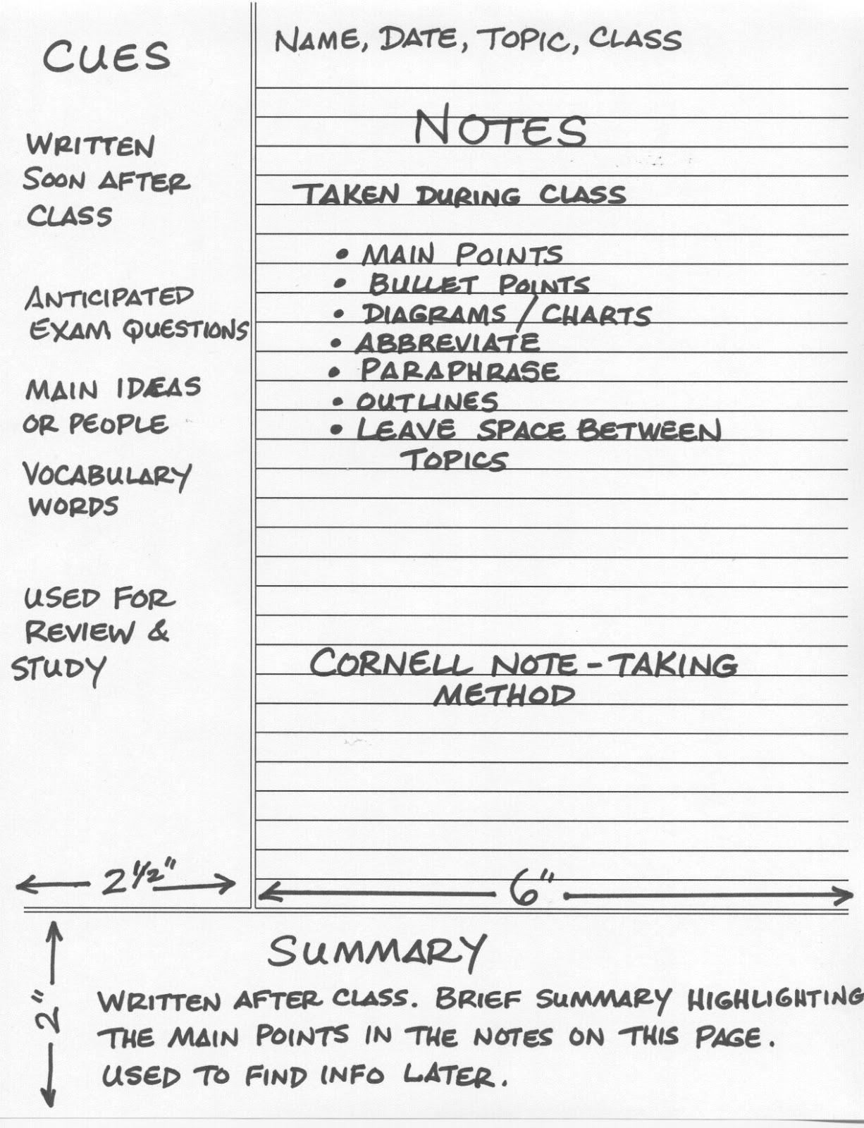 Phương pháp ghi chép của Cornell