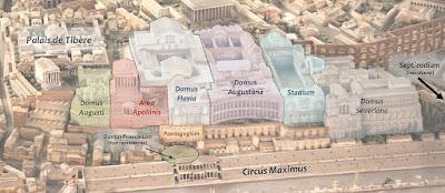 Palacios imperiales del monte Palatino. Roma