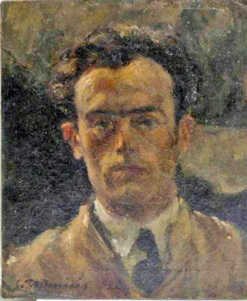 Cristoforo  de Amicis, Self Portrait, Portraits of Painters, Fine arts, Portraits of painters blog, Paintings of Cristoforo  de Amicis, Painter Cristoforo  de Amicis,
