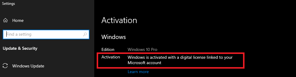 windows 10 digital product key
