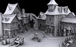 medieval fantasy village town olivier boucher portfolio blogthis email