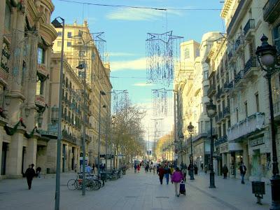 El Portal de l' Angel shopping street in Barcelona