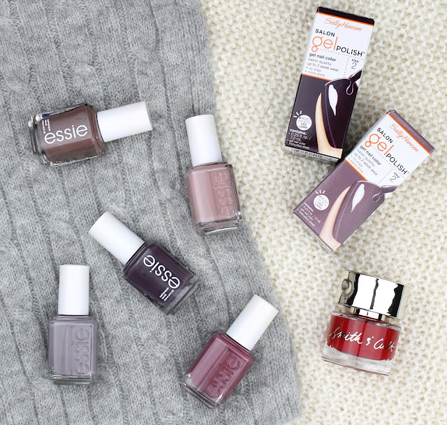 winter nail shades nail polish colours season trends Essie Sally Hansen Smith & Cult review swatches swatch