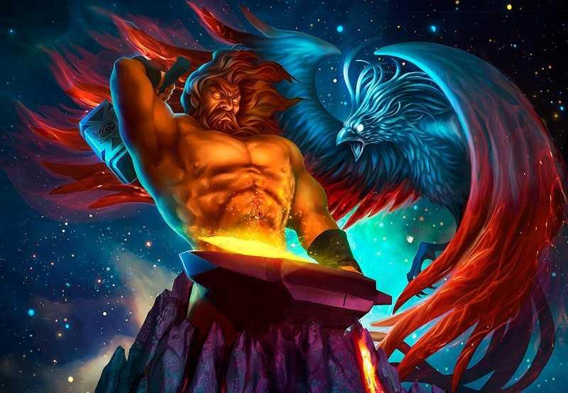 Hefesto era o deus dos ferreiros e do fogo.