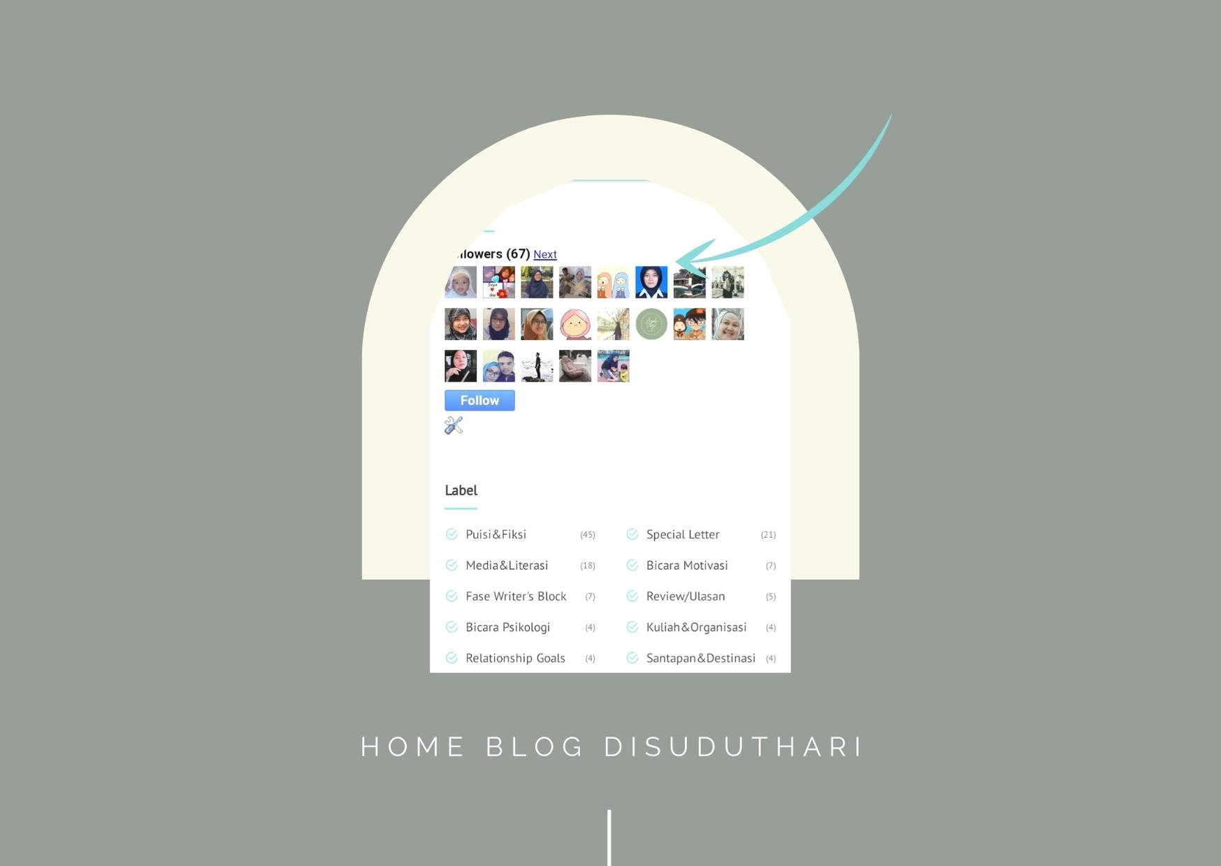 Widget pengikut di blog disuduthari