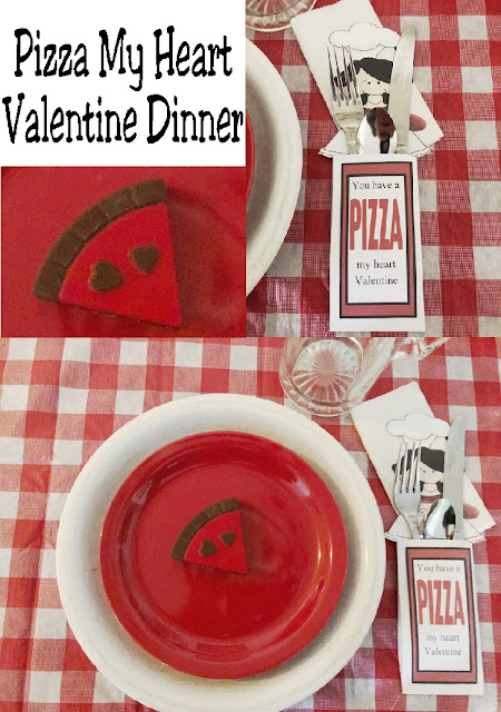 You have a Pizza my heart Valentine! Show your family how much you love them this Valentine's day with a fun and super simple Pizza Valentine dinner party.  With simple items you already own, you can throw together a fun and memorable dinner tonight. #valentinesday #familydinner #valentinesdaydinner #dinnerdate #pizzadinner #tablescape #diypartymomblog