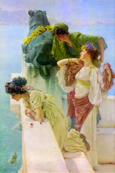 Observando do Muro - As mais belas pinturas de Lawrence Alma-Tadema - (Neoclassicismo)
