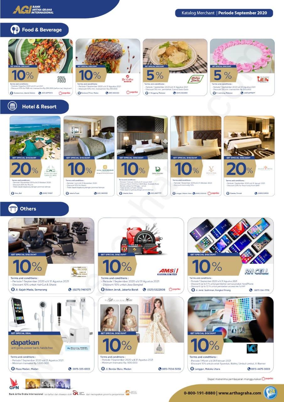 Promo Katalog Merchant Kartu Debit GrahaCash Bank Artha Graha Internasional