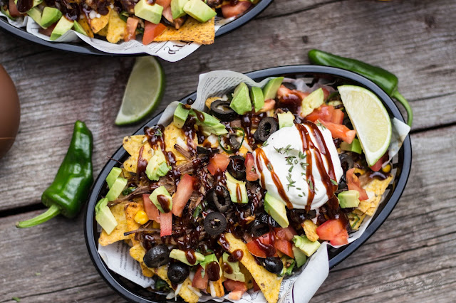 Slow Cooker Beer Pulled Pork Nachos
