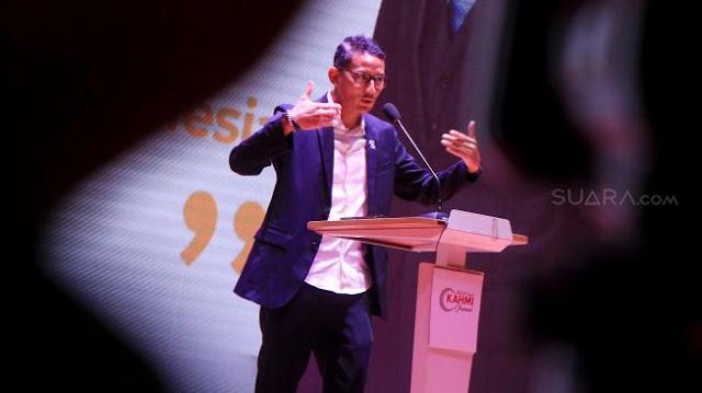 Dicecar Soal Pipres 2024 dan Singgung Erick Thohir, Sandi: Sulit Ditebak