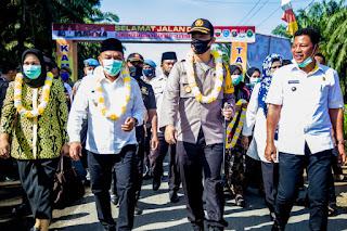 Bupati Labuhanbatu Hadiri Lounching Kampung Tangguh Bumi Nusantara Ikabina Enpabolo