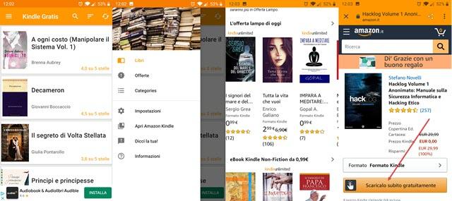 app per libri gratis su Kindle